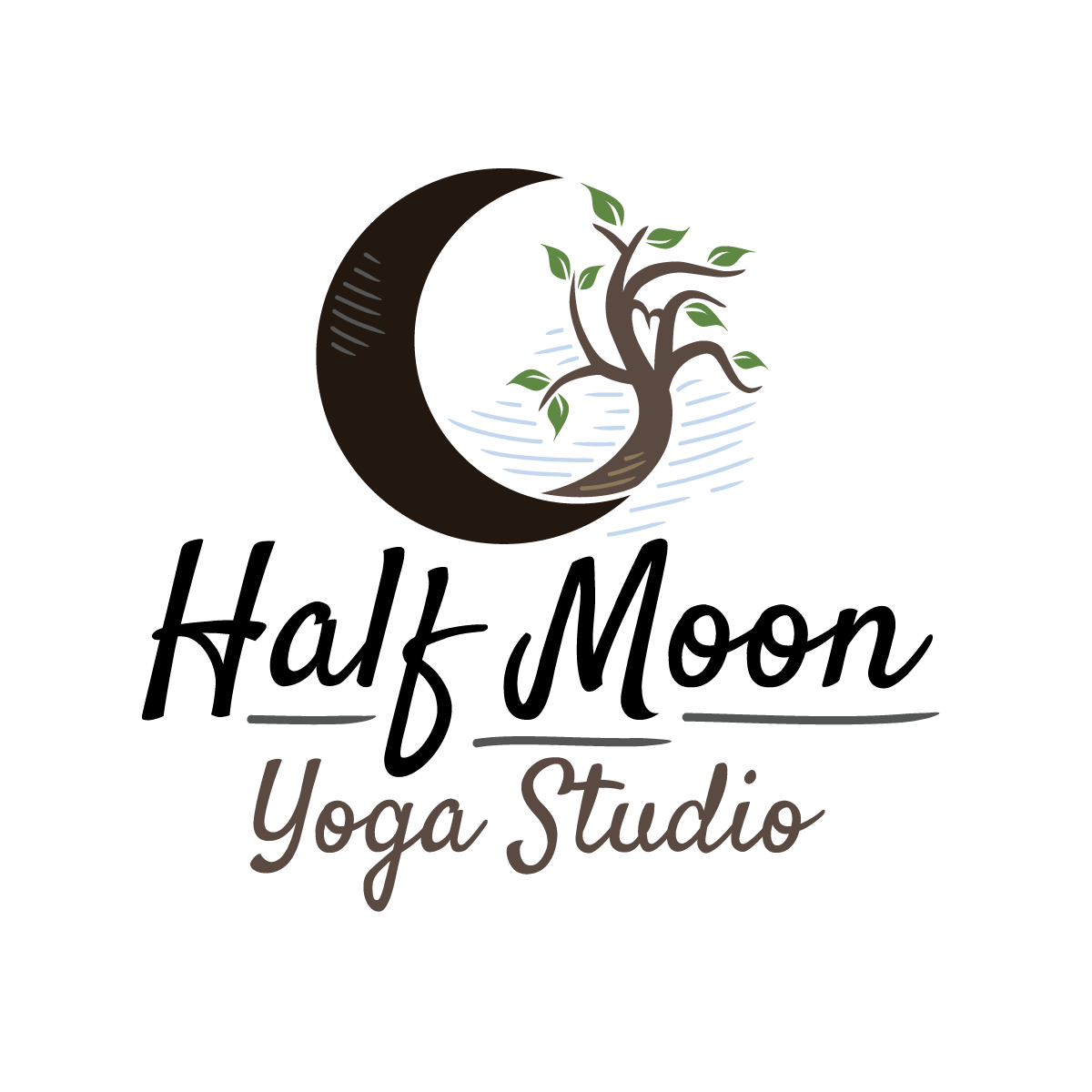 Half Moon Yoga Studio Logo